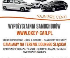 OKEY-CAR Wypożyczalnia samochodów Dzierżoniów